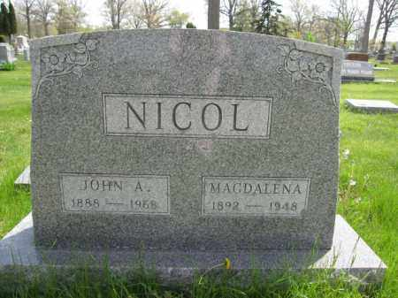 NICOL, MAGDALENA KANDEL - Union County, Ohio | MAGDALENA KANDEL NICOL - Ohio Gravestone Photos