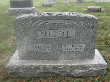 NICOL, BARBARA - Union County, Ohio | BARBARA NICOL - Ohio Gravestone Photos