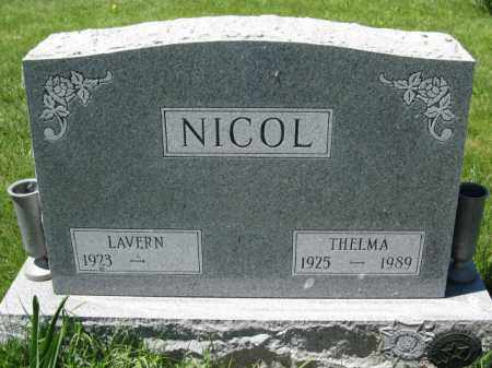 NICOL, LAVERN - Union County, Ohio | LAVERN NICOL - Ohio Gravestone Photos