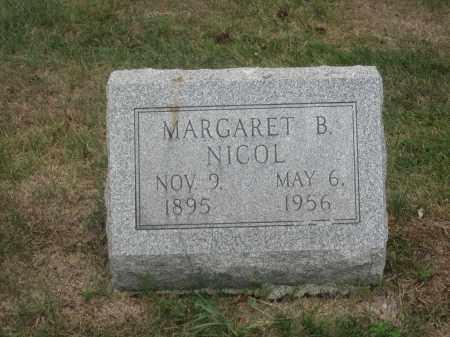 NICOL, MARGARET B. - Union County, Ohio | MARGARET B. NICOL - Ohio Gravestone Photos