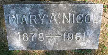 NICOL, MARY A. - Union County, Ohio | MARY A. NICOL - Ohio Gravestone Photos
