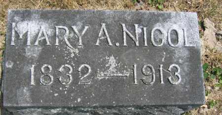 NICOL, MARY A. - Union County, Ohio | MARY A. NICOL - Ohio Gravestone Photos