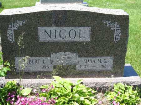 NICOL, EDNA M.G. - Union County, Ohio   EDNA M.G. NICOL - Ohio Gravestone Photos