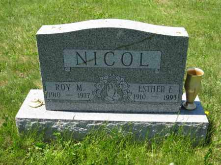 NICOL, ESTHER E. - Union County, Ohio | ESTHER E. NICOL - Ohio Gravestone Photos
