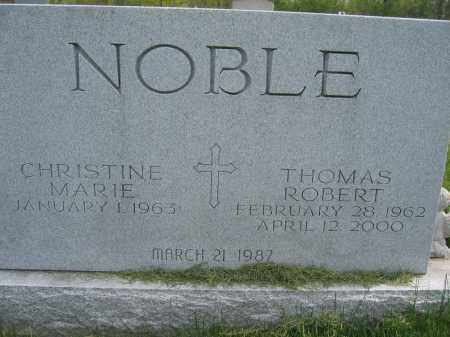 NOBLE, CHRISTINE MARIE - Union County, Ohio | CHRISTINE MARIE NOBLE - Ohio Gravestone Photos