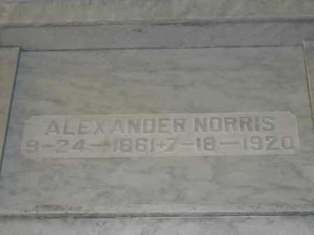 NORRIS, ALEXANDER - Union County, Ohio | ALEXANDER NORRIS - Ohio Gravestone Photos
