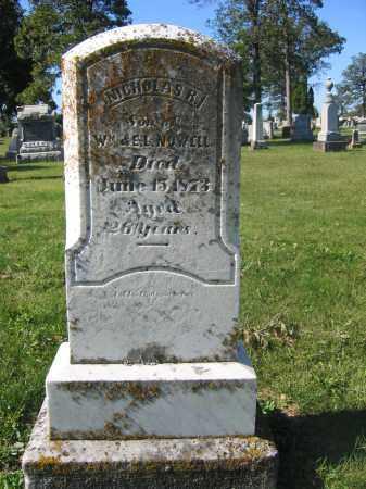 NOWELL, NICHOLAS R. - Union County, Ohio   NICHOLAS R. NOWELL - Ohio Gravestone Photos