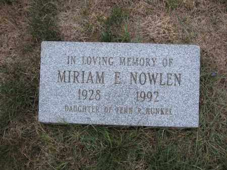 NOWLEN, MIRIAM E. - Union County, Ohio | MIRIAM E. NOWLEN - Ohio Gravestone Photos