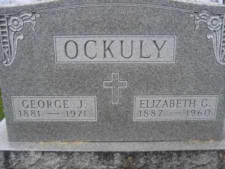 OCKULY, ELIZABETH C. - Union County, Ohio | ELIZABETH C. OCKULY - Ohio Gravestone Photos