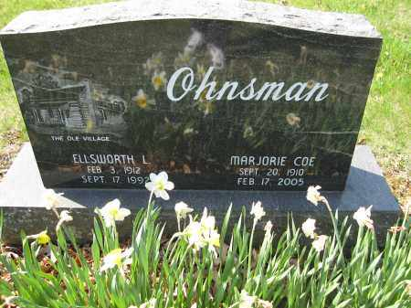 OHNSMAN, MARJORIE COE - Union County, Ohio | MARJORIE COE OHNSMAN - Ohio Gravestone Photos