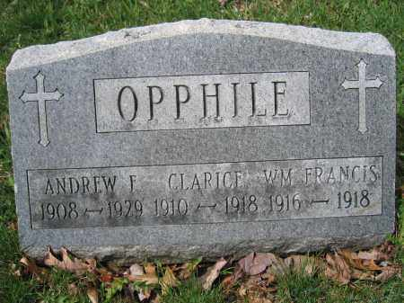 OPPHILE, WILLIAM FRANCIS - Union County, Ohio | WILLIAM FRANCIS OPPHILE - Ohio Gravestone Photos