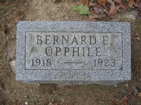 OPPHILE, BERNARD E. - Union County, Ohio | BERNARD E. OPPHILE - Ohio Gravestone Photos