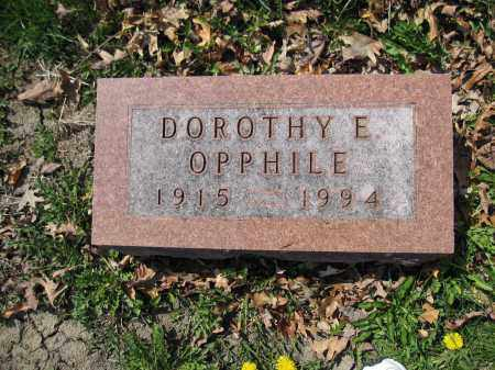 OPPHILE, DOROTHY E. - Union County, Ohio | DOROTHY E. OPPHILE - Ohio Gravestone Photos