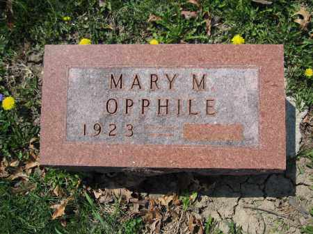OPPHILE, MARY M. - Union County, Ohio | MARY M. OPPHILE - Ohio Gravestone Photos