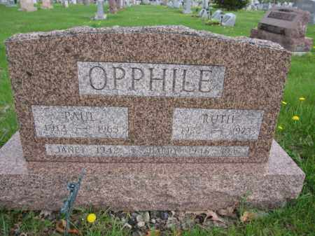 OPPHILE, JANET - Union County, Ohio | JANET OPPHILE - Ohio Gravestone Photos