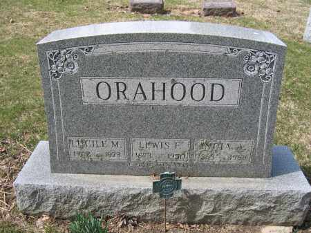 ORAHOOD, LEWIS F. - Union County, Ohio | LEWIS F. ORAHOOD - Ohio Gravestone Photos