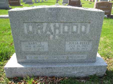 ORAHOOD, JULIA BELLE - Union County, Ohio | JULIA BELLE ORAHOOD - Ohio Gravestone Photos