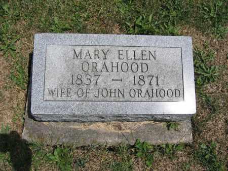 ORAHOOD, MARY ELLEN - Union County, Ohio | MARY ELLEN ORAHOOD - Ohio Gravestone Photos