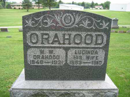 ORAHOOD, LUCINDA - Union County, Ohio | LUCINDA ORAHOOD - Ohio Gravestone Photos