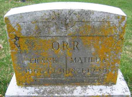 ORR, FRANK - Union County, Ohio | FRANK ORR - Ohio Gravestone Photos