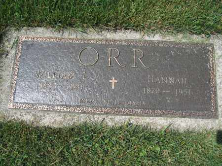 ORR, HANNAH - Union County, Ohio | HANNAH ORR - Ohio Gravestone Photos