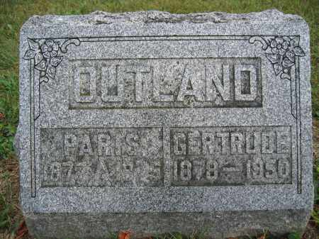 OUTLAND, GERTRUDE - Union County, Ohio | GERTRUDE OUTLAND - Ohio Gravestone Photos