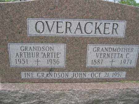 OVERACKER, VERNETTA C. - Union County, Ohio | VERNETTA C. OVERACKER - Ohio Gravestone Photos