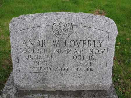 OVERLY, ANDREW J. - Union County, Ohio | ANDREW J. OVERLY - Ohio Gravestone Photos