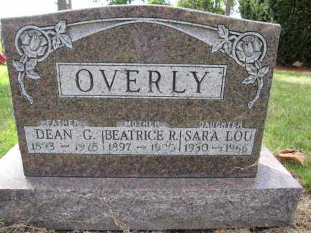 OVERLY, SARA LOU - Union County, Ohio | SARA LOU OVERLY - Ohio Gravestone Photos