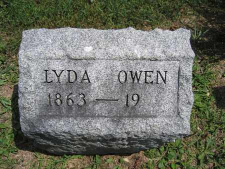 OWEN, LYDA - Union County, Ohio | LYDA OWEN - Ohio Gravestone Photos