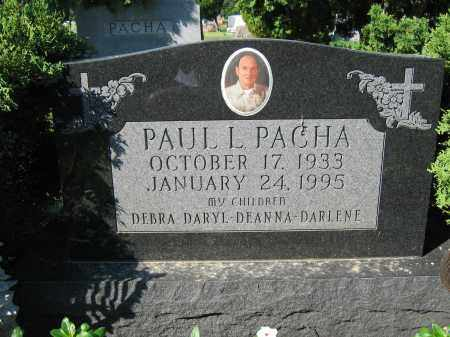 PACHA, PAUL L. - Union County, Ohio | PAUL L. PACHA - Ohio Gravestone Photos
