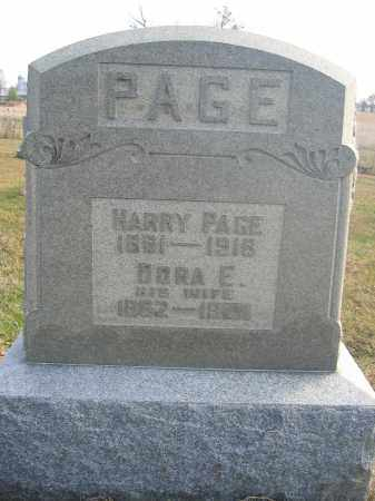 PAGE, HARRY - Union County, Ohio | HARRY PAGE - Ohio Gravestone Photos
