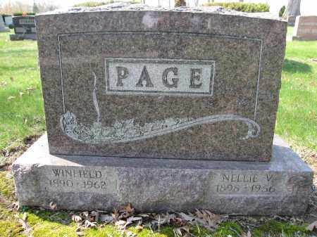 PAGE, NELLIE V. - Union County, Ohio | NELLIE V. PAGE - Ohio Gravestone Photos