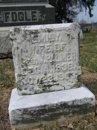 PALMER, EMILY - Union County, Ohio   EMILY PALMER - Ohio Gravestone Photos