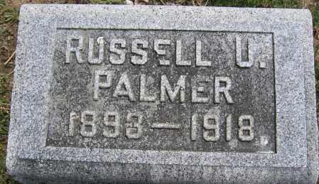 PALMER, RUSSELL U. - Union County, Ohio | RUSSELL U. PALMER - Ohio Gravestone Photos