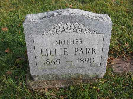 PARK, LILLIE - Union County, Ohio | LILLIE PARK - Ohio Gravestone Photos