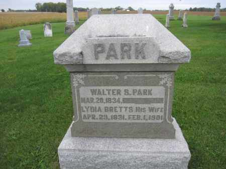 PARK, WALTER S. - Union County, Ohio | WALTER S. PARK - Ohio Gravestone Photos