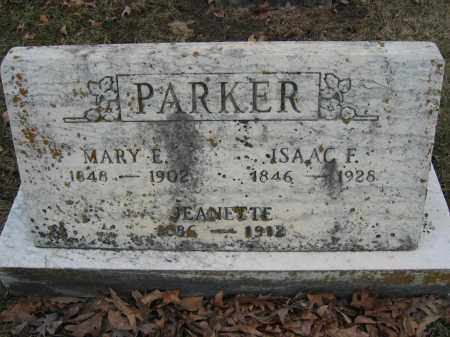 PARKER, MARY E. - Union County, Ohio | MARY E. PARKER - Ohio Gravestone Photos