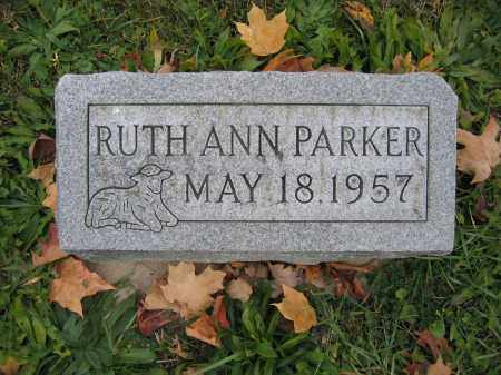 PARKER, RUTH ANN - Union County, Ohio | RUTH ANN PARKER - Ohio Gravestone Photos