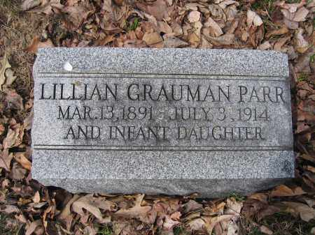 PARR, LILLIAN GRAUMAN - Union County, Ohio | LILLIAN GRAUMAN PARR - Ohio Gravestone Photos