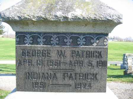 PATRICK, GEORGE W. - Union County, Ohio | GEORGE W. PATRICK - Ohio Gravestone Photos