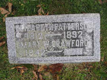 CRAWFORD, MARY W. - Union County, Ohio | MARY W. CRAWFORD - Ohio Gravestone Photos