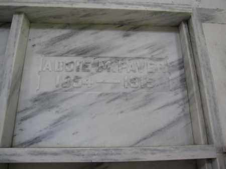 PAVER, ADDIE M. - Union County, Ohio | ADDIE M. PAVER - Ohio Gravestone Photos