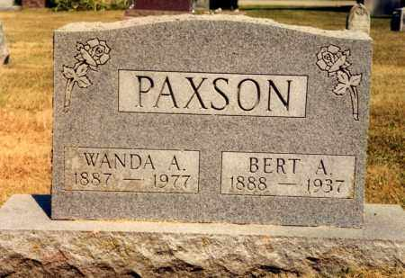 PAXSON, BERT A. - Union County, Ohio | BERT A. PAXSON - Ohio Gravestone Photos