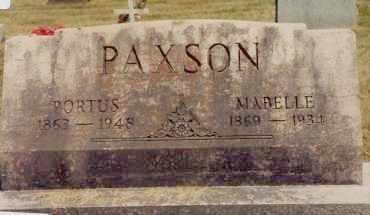 "PAXSON, PORTUS ""PORTER"" J. - Union County, Ohio | PORTUS ""PORTER"" J. PAXSON - Ohio Gravestone Photos"
