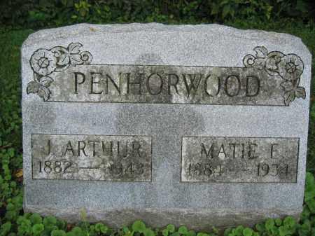 PENHORWOOD, J. ARTHUR - Union County, Ohio | J. ARTHUR PENHORWOOD - Ohio Gravestone Photos