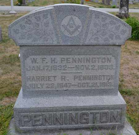 PENNINGTON, W.F.H. - Union County, Ohio | W.F.H. PENNINGTON - Ohio Gravestone Photos