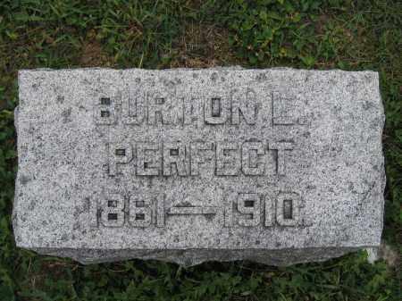 PERFECT, BURTON E. - Union County, Ohio | BURTON E. PERFECT - Ohio Gravestone Photos