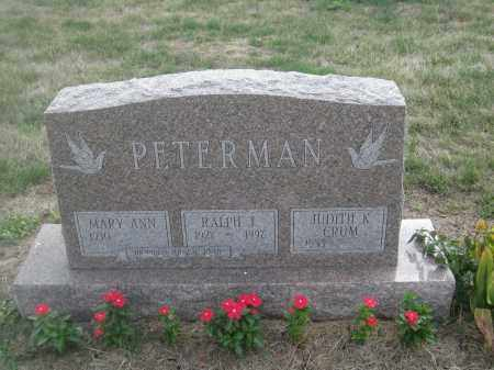 PETERMAN, RALPH J. - Union County, Ohio | RALPH J. PETERMAN - Ohio Gravestone Photos