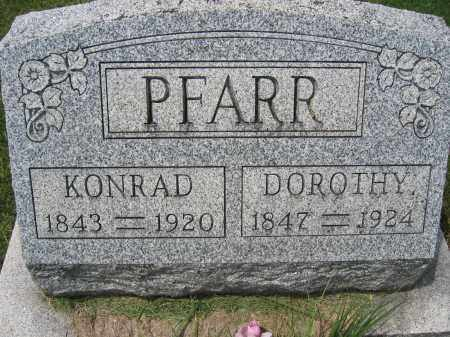 PFARR, KONRAD - Union County, Ohio | KONRAD PFARR - Ohio Gravestone Photos